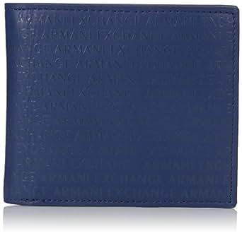 Armani Exchange Men's Laser Logo Wallet Accessory, deep blue, TU