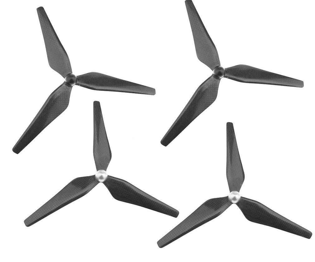 4 Pieces Carbon Fiber 9450 Propeller Self-tightening CW//CCW 3-Blade Prop Parts Replacement For DJI Phantom 2//3