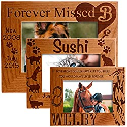 Sugar Yeti Personalized Photo Frame Pet Memorial Customized Picture Frame with Stand