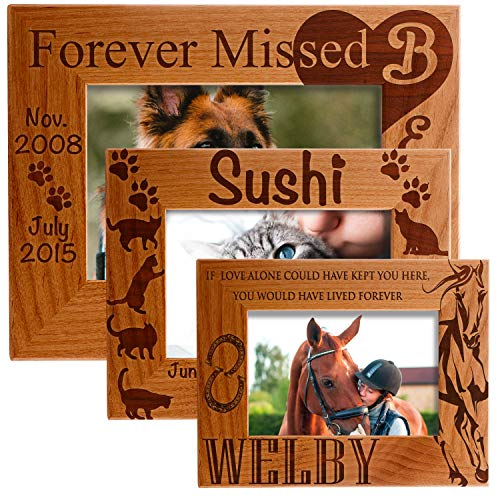 - Sugar Yeti Personalized Photo Frame Pet Memorial Customized Picture Frame with Stand
