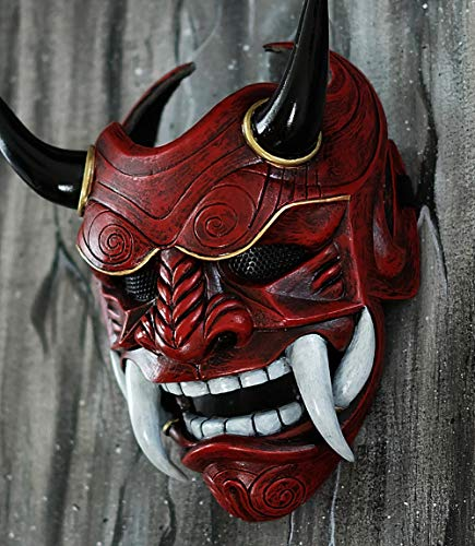 tripple_777 Samurai Assassin Demon Oni Airsoft Mask BB Gun Halloween Costume Ninja Warrior Evil Cosplay red DA01 ()