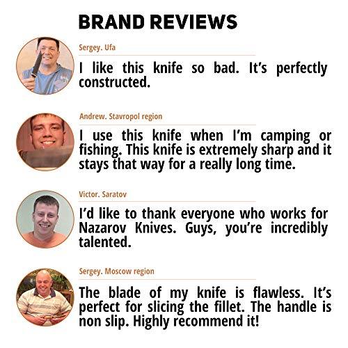 Fillet Knife - Fishing Knife - D2 Steel - Birchbark Handle - KASATKA - Leather Sheath by Nazarov Knives (Image #4)