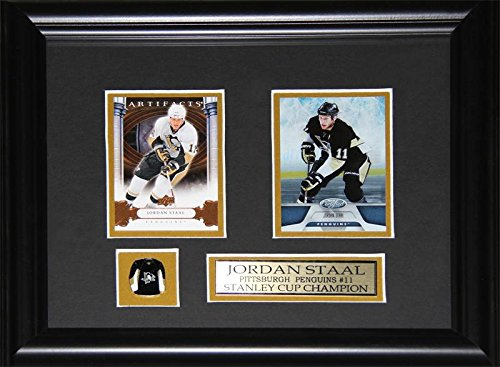 - Jordan Staal Pittsburgh Penguins 2 Card NHL Hockey Memorabilia Collector Frame