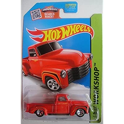 Hot Wheels 2015 HW Workshop '52 Chevy 244/250, Red: Toys & Games