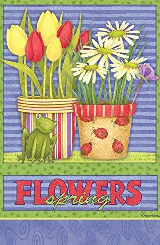 Debbie Mumm Spring Flowers Small Garden Flag