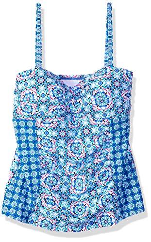 Christina Women's Twist Front Bandini Swimsuit, Medina Mosaic, 12 - Mosaic Twist