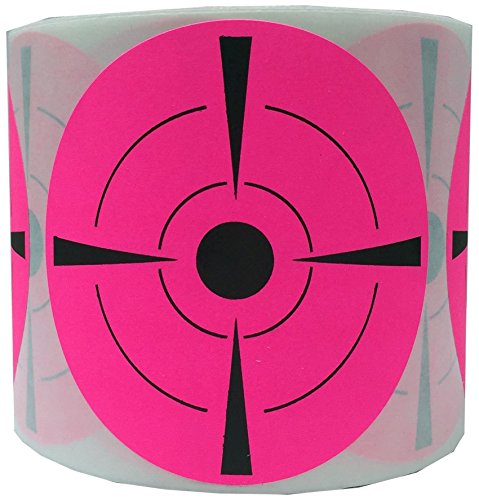 Well Tile Target Stickers (Qty 250pcs 3) Self Adhesive Targets for Shooting   We Offer the Highest Quality Adhesive Paper Shooting Targets Fluorescent Pink