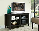 TV LCD Plasma Entertainment Shelf Stand in Black Finish