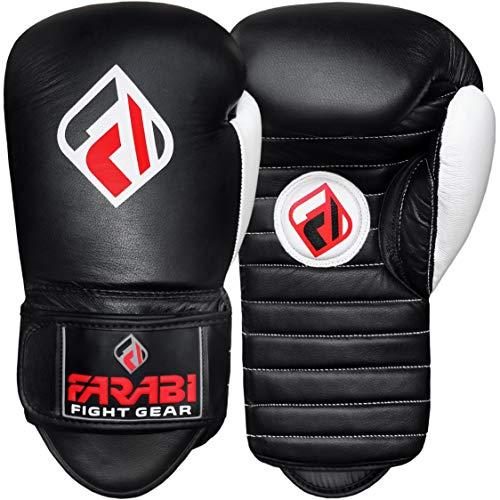 Farabi Coaching Mitts Focus Gloves for Training Punching and Kickboxing (Black, 14-OZ)