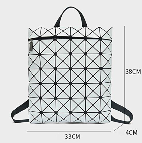 B Tendencia Geométrica Mochila De Holográfica Moda Viaje Cuadrada B Mochila Matorral Backpac Rómbica DCRYWRX Bolsa CwHqSfAf