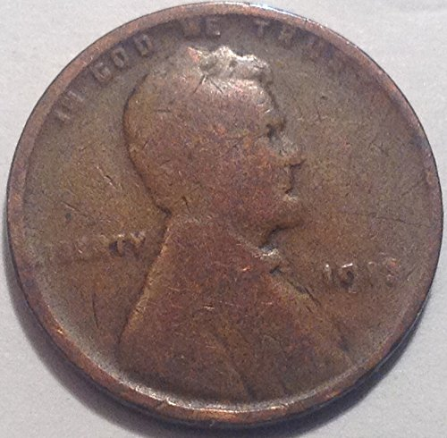1913 Lincoln Wheat Cent Penny Good