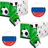 Soccer Party Party Supply Plastic Tablecloth - 2 Pack
