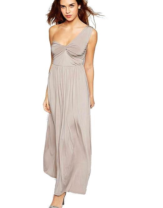 e6d0419018 Anastasia - Vestido Largo Elegante de un solo Hombro