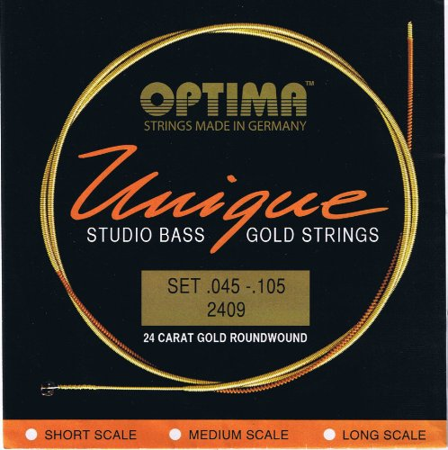 Optima 24 K Gold Plated 'Unique Series' Studio Bass Strings .045 - ()