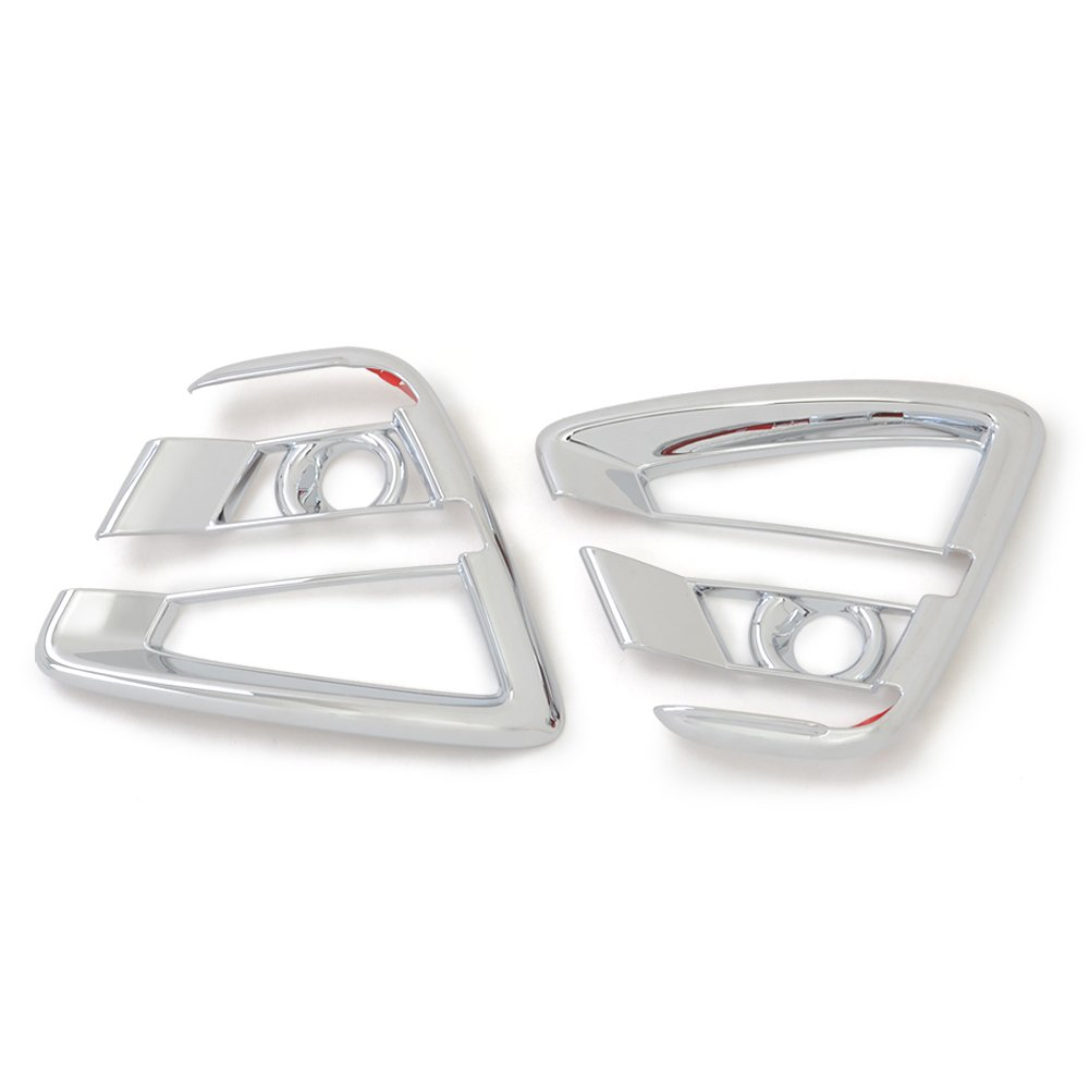 Kadore Front Fog Light Lamp Cover For Mazda CX-5 CX5 2016-2017 First Generation Post-Facelift Styling ABS Chrome 2PCS//SET