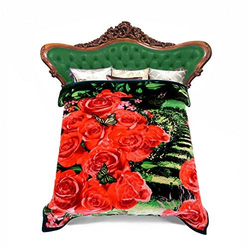 "JML Heavy Warm Blanket, Plush Blankets Queen Size 79"" x 9..."