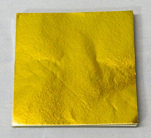 """500 6"""" X 6"""" Gold Confectionery Foil Wrappers Candy Wrappers Candy Making Supplies"""