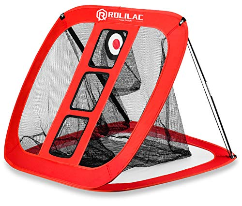 Rolilac Pop Up Golf Chipping Net - Indoor/Outdoor Golfing Target Accessories for Backyard Accuracy and Swing Practice - Great Gifts for Men, Dad, Mom, Husband, Women, Kid, Golfers