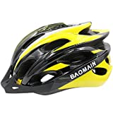 Cheap Baomain Adult Cycling Bike Helmet for Men Women Yellow-Black Adjustable Lightweight Helmet Safety Protection CPSC Safety Standard