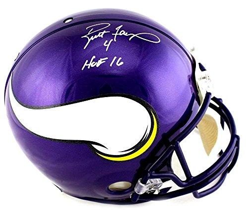 90d04d8c0 Brett Favre Signed Minnesota Vikings Riddell Authentic Full Size NFL Helmet  With