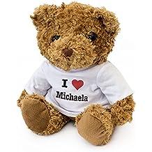 NEW - I LOVE MICHAELA - Teddy Bear - Cute Soft Cuddly - Gift Present Birthday Xmas Valentine