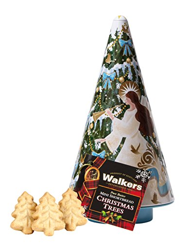 - Walkers Shortbread Christmas Tree Angel Cookie Tin, 4.4 Ounce