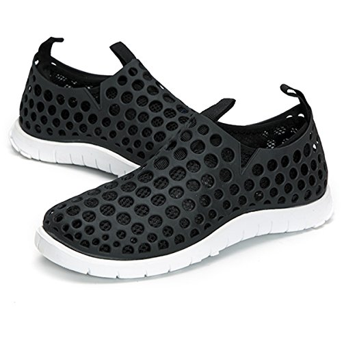 Clogs Garden Women Sandals Black Shoes Mesh Slippers Water Shoes Slip Casual Breathable Walking Slip Summer On Hollow Outdoor Men Quick Out Drying gracosy Anti Beach Shoes Flat Lightweight Eqt5gwfgx