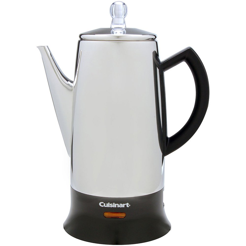 Cuisinart PRC-12 Classic 12-Cup Stainless-Steel Percolator, Black/Stainless (Certified Refurbished)