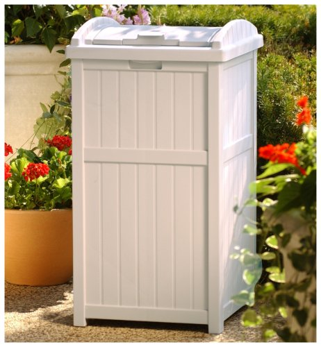 Amazon.com: Suncast GH1732 Outdoor Trash Hideaway: Patio, Lawn & Garden - Amazon.com: Suncast GH1732 Outdoor Trash Hideaway: Patio, Lawn