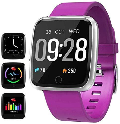 HitTopss Waterproof Fitness Tracker Sport Watch Smart Bracelet with Pedometer Calorie Counter Heart Rate Sleep Monitor…