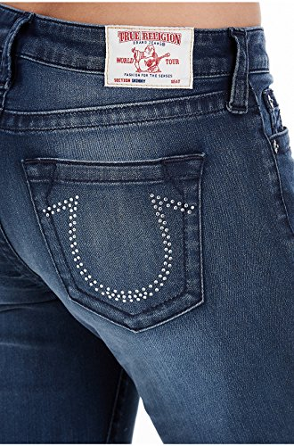 Skinny Religion True (True Religion Women's Curvy Skinny Fit Jeans w/Crystal Embellishment in Deepest Indigo (31))