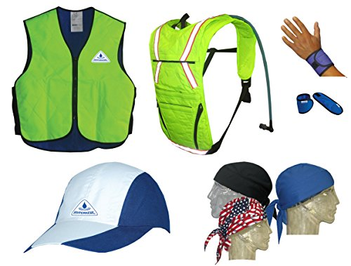 The Ultimate Summer Cooling Kit - GET ALL 7 PIECES - HI-VIZ LIMEX-LARGE by HyperKewl