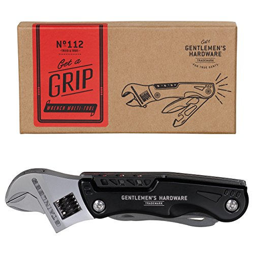 Gentlemen's Hardware Wrench Multi-Tool with Torch and LED Light