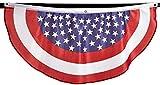 Beistle 54991-RWB Stars and Stripes Fabric Bunting, 4-Feet