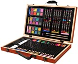 Studio 71 deluxe art set overflows with color and creativity. For the serious artist. Set includes 24 color pencils, 24 oil pastels, 24 watercolor cakes, 2 paint brushes, 2 drawing pencils, pencil sharpener, kneaded eraser and sanding blocks....