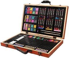 Darice 80-Piece Deluxe Art Set – Art Supplies for Drawing, Paint