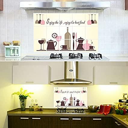 Buyer-first® Sala da Pranzo Adesivo Decorativo (paraschizzi) per ...