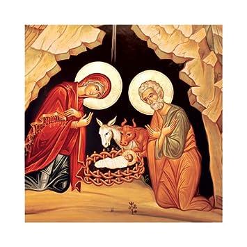 Geburt Jesus – Weihnachtskarte – Religiöse Karten, Weihnachten ...