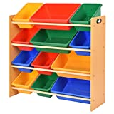 Toy Bin Organizer Kids Childrens Storage Box Playroom Bedroom Shelf Drawer TKT-11
