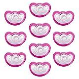 Razbaby JollyPop 3+ Months Pacifier 10 Pack Unscented - Pink