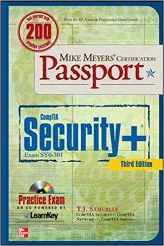 mike meyers comptia security certification passport third edition