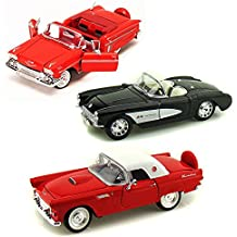 Best of 1950s Diecast Cars - Set 58 - Set of Three 1/24 Scale Diecast Model Cars