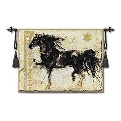 amazon com classic horse style handwoven wall hanging fabric