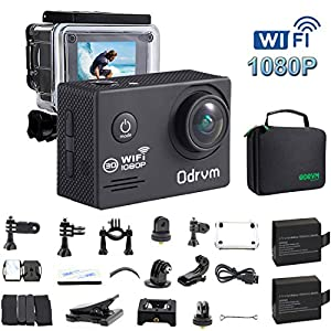 WIFI Action Camera Waterproof 170 Degree Angle Underwater Camera Diving 30M With 2.0Inch LCD And 19PCS Accessories for Surfing, Kids, Snorkeling ,Biking, Racing, Skiing, Motocross And Water Sports