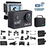 WIFI Action Camera Waterproof 170 Degree Angle Underwater Camera Diving 30M With 2.0Inch LCD And 19PCS Accessories for Kids, Snorkeling,Fishing, Swimming, Biking, Skiing, Motocross And Water Sports