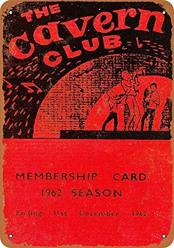 JORDAN ARCHER 1962 Cavern Club Membership Card Beatles Metal Tin Poster Garage Club Bar Wall Art Decoration (Beatles Poster Card)