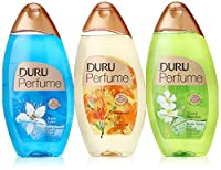 Duru 3 Piece Shower Gel Variety Pack, Lily/Aqua Love/Bamboo