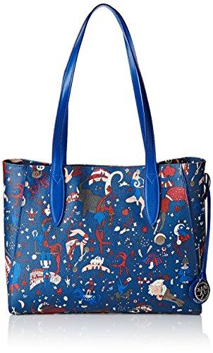 Y5 Large Mujer Prussia Di blu Piero Azul Bolsa Guidi vw4qa8