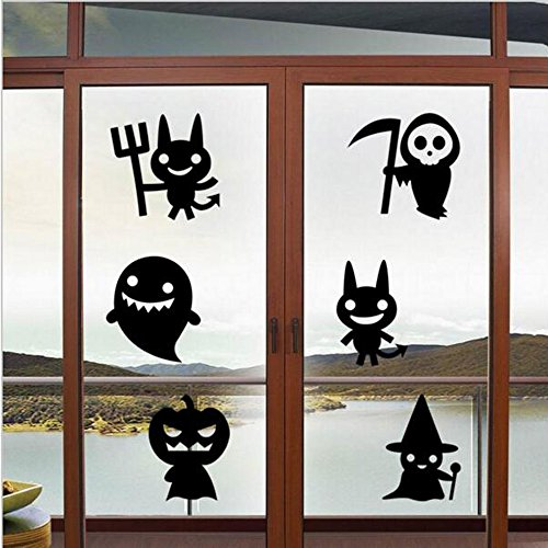 OTTATAT Wall Stickers for Girls 2019,Happy Halloween Household Room Mural Decor Decal Removable New Easy to Stick Valentine's Day Photography Background Gift for Mother Free Deliver]()
