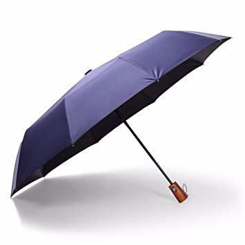 SSBY Madera maciza 10 huesos de hombres de negocios del paraguas plegable automático paraviento 30%